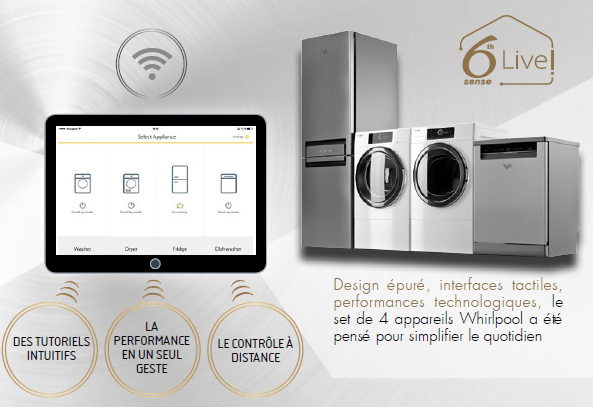 whirlpool lance une gamme de 4 appareils connect s. Black Bedroom Furniture Sets. Home Design Ideas