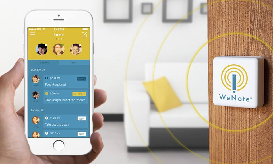 wenote un objet connect pour ne plus rien oublier. Black Bedroom Furniture Sets. Home Design Ideas