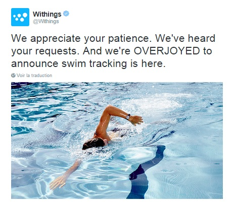 Withings Activité Pop natation