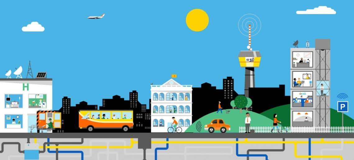 Smart cities orange