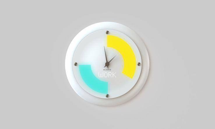 glance une horloge murale intelligente tr s styl e. Black Bedroom Furniture Sets. Home Design Ideas