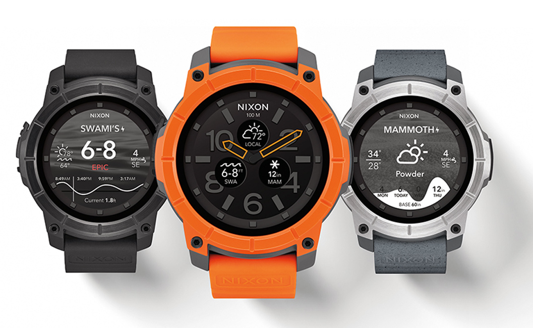 Nixon Mission smartwatch Android sports extrêmes