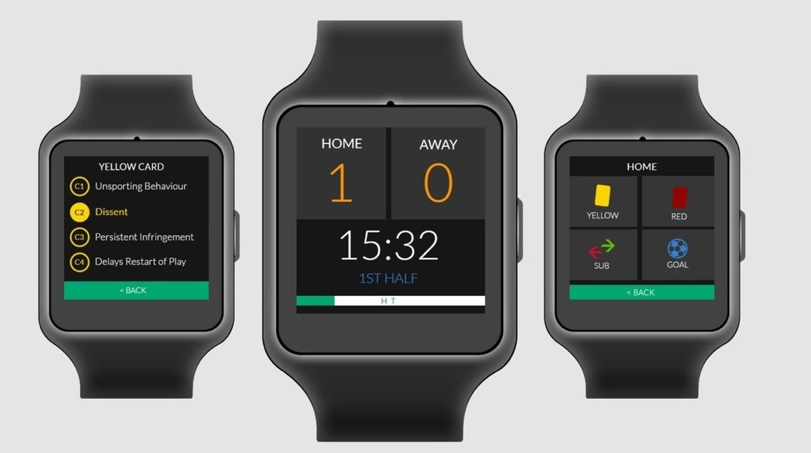 Refsix smartwatch arbitres football