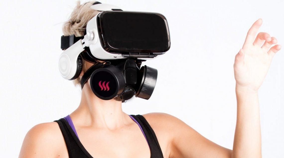 Oculus Whiffed masque à gaz Camsoda sentir réalité virtuelle porno