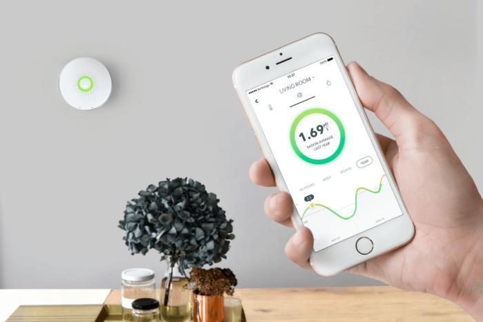 Airthings Wave - Un objet connecté qui surveille la pollution intérieure
