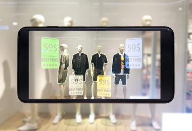 réalité augmentée dans la vente au détail