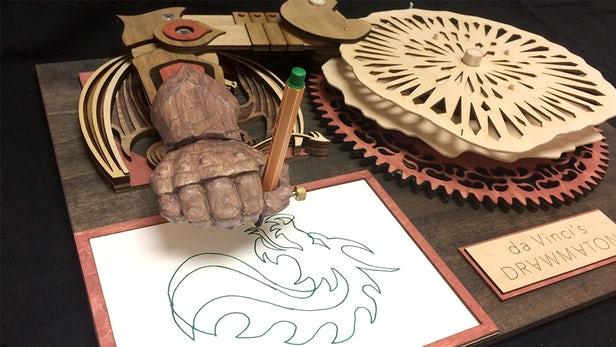 Drawmaton – La machine à dessiner inspirée par Da Vinci