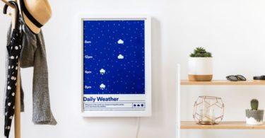 Typified dévoile un poster qui change de couleur pour fournir des prévisions météorologiques