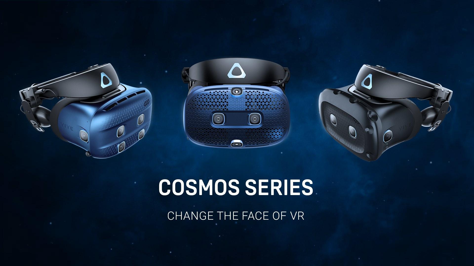 Vive Cosmos - HTC lance trois nouveaux casques VR avec plaques frontales interchangeables