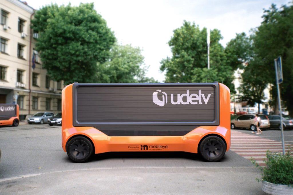 Mobileye et Udelv nacelle de livraison sans conducteur 1