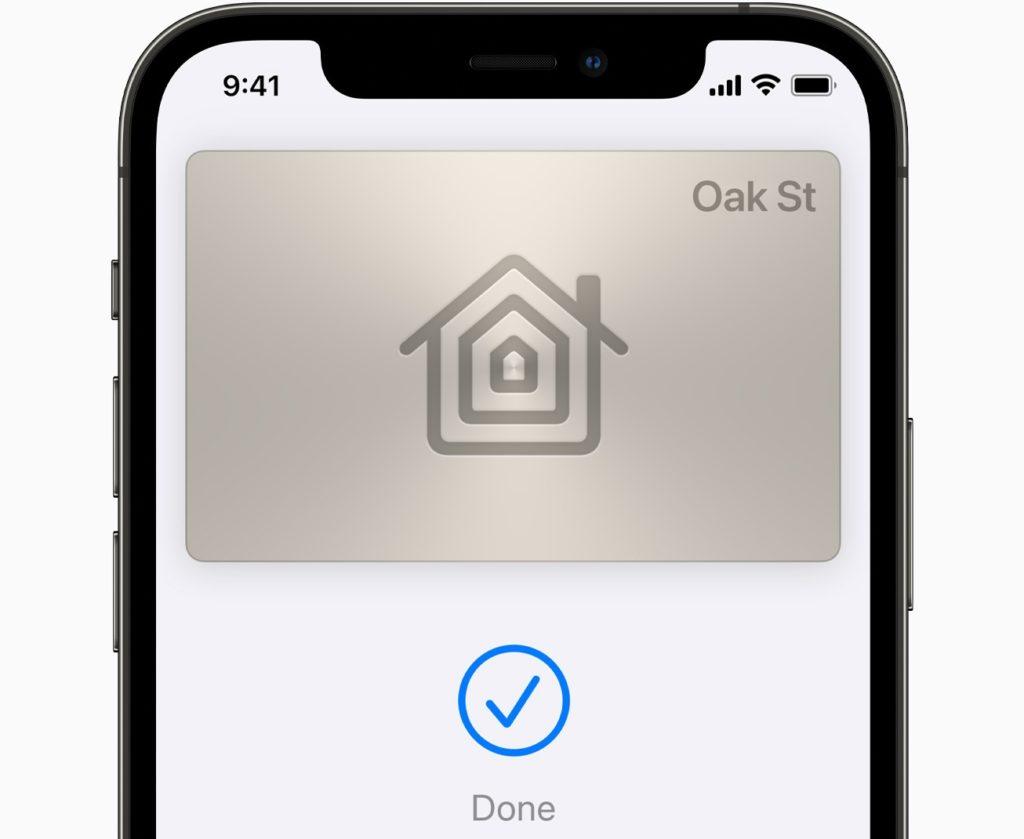 Apple Home Keys déverrouiller porte d'entrée avec iPhone.