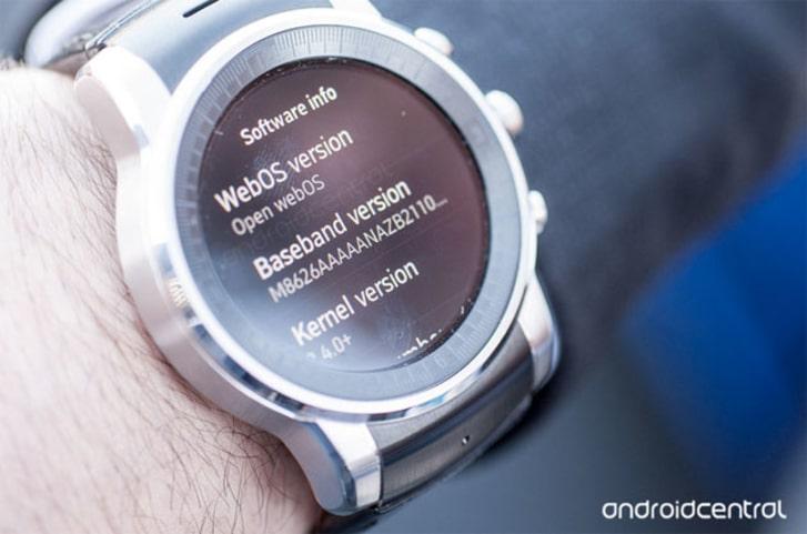 smartwatch webOS LG Audi