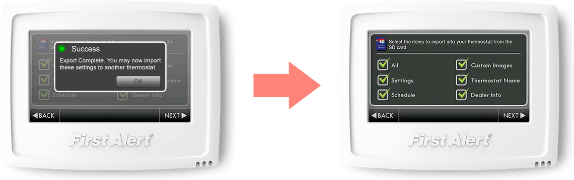 thermostat connecté Onelink FirstAlert