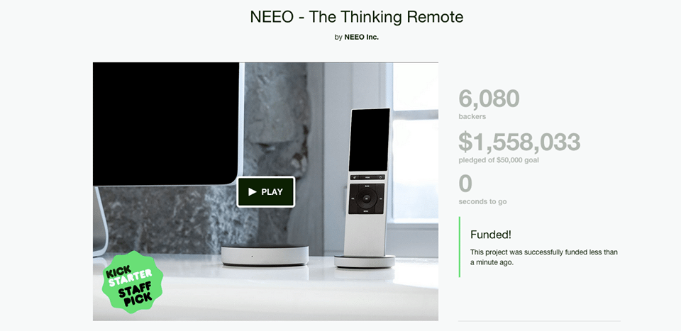 télécommande connectée NEEO