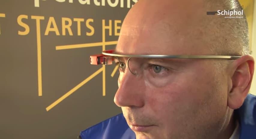 Google Glass aéroport Amsterdam Schipol