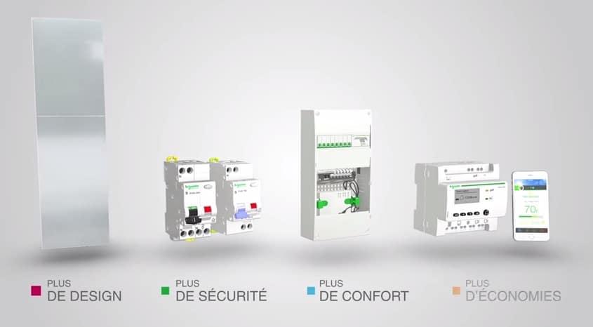 tableau électrique connecté Schneider Electric