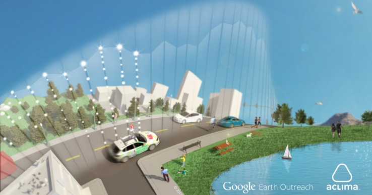 Aclima Google Earth outreach voitures Street View