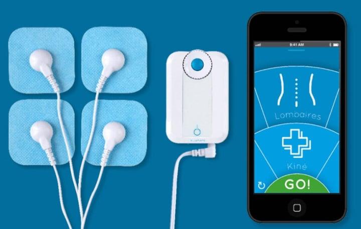 Appareil d'électrostimulation connecté Bluetens