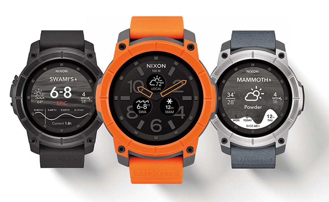 Nixon Mission smartwatch Android sports extrêmes