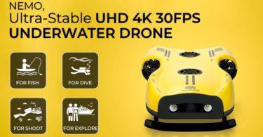 drone sous-marin Nemo propose de la 4K ultra-haute définition