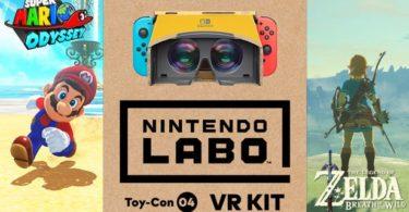Le Kit Labo VR sera disponible pour Super Mario Odyssey et The Legend of Zelda