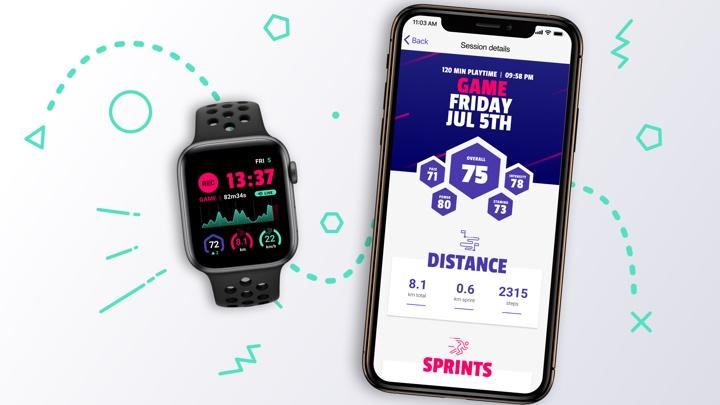 DashTag transforme votre Apple Watch en tracker pour le football