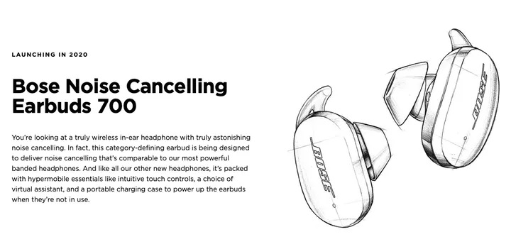 Bose Noise Canceling Earbuds 700