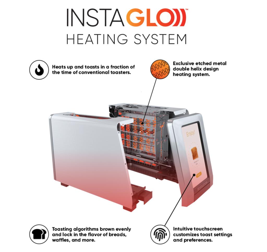 grille-pain intelligent R180 High-Speed Smart Toaster de Revolution Cooking 3
