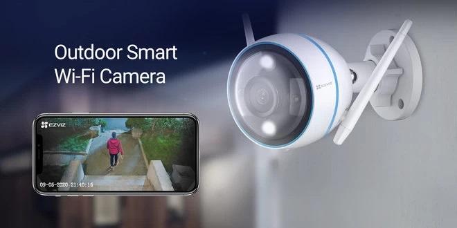 CTQ3N - La caméra intelligente Wi-Fi d'extérieur en couleur pour la vision nocturne