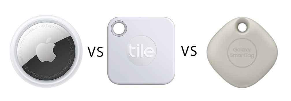 Comparatif des trackers Apple AirTag vs Tile vs Galaxy SmartTag