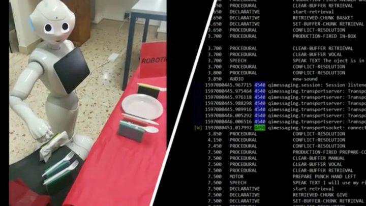 Pepper robot personnel utilise sa voix intérieure pour résoudre ses problèmes seul 1