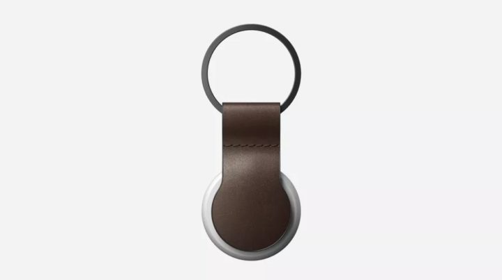 Accessoire pour AirTag 1 - Porte-clés en cuir AirTag Boucle en cuir
